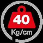 max load 40 [Kg/cm]